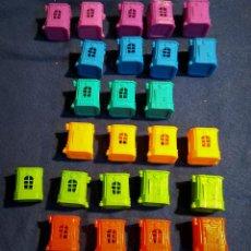 Figuras de Goma y PVC: LOTE 25 CASAS ZOMLINGS. Lote 233754375