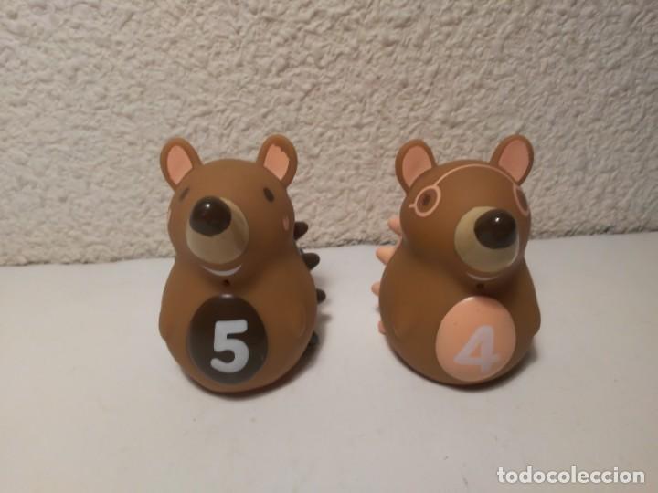 Figuras de Goma y PVC: Pareja de erizos con número 4 y 5 muñecos animales de plástico - Foto 3 - 233868570