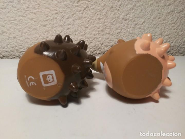 Figuras de Goma y PVC: Pareja de erizos con número 4 y 5 muñecos animales de plástico - Foto 5 - 233868570