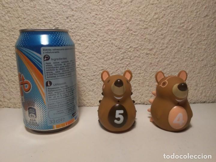 Figuras de Goma y PVC: Pareja de erizos con número 4 y 5 muñecos animales de plástico - Foto 6 - 233868570