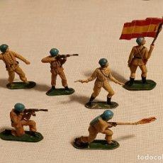 Figurines en Caoutchouc et PVC: 6 SOLDADOS DE GOMA TEIXIDO 54 MM.. Lote 233939790