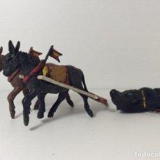 Figuras de Borracha e PVC: MULAS DE ARRASTRE TORO DE LIDIA EN PLÁSTICO DE TEIXIDO. Lote 234329065
