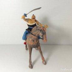 Figure di Gomma e PVC: FIGURA DE MONGOL A CABALLO DE ESTEREOPLAST. Lote 234333435