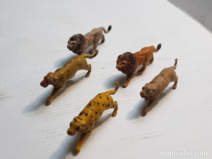 Figuras de Goma y PVC: Figuras Capell Serie Fieras en Goma dura lote 5 dificiles - Foto 2 - 234578870