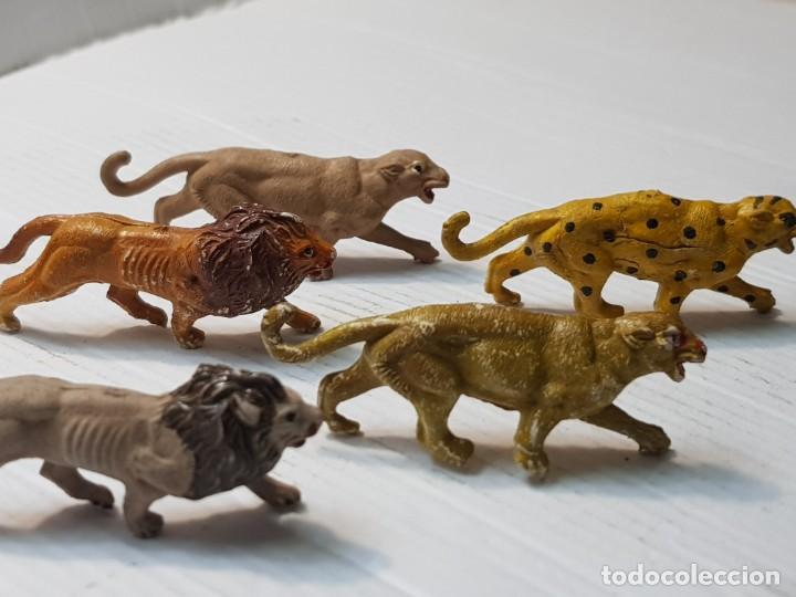 Figuras de Goma y PVC: Figuras Capell Serie Fieras en Goma dura lote 5 dificiles - Foto 5 - 234578870