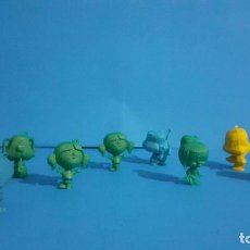 Figuras de Goma y PVC: LOTE DE 9 CABEZONES CON ANILLA Y AGUJERO EN LOS PIES.. Lote 234600675