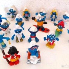 Figuras de Goma y PVC: LOTE 18 PITUFOS SCHLEICH PEYO GERMANY ALGUNO 1978 OTROS SIN MARCA TRIBU PITUFINA VER FOTOS. Lote 234749720