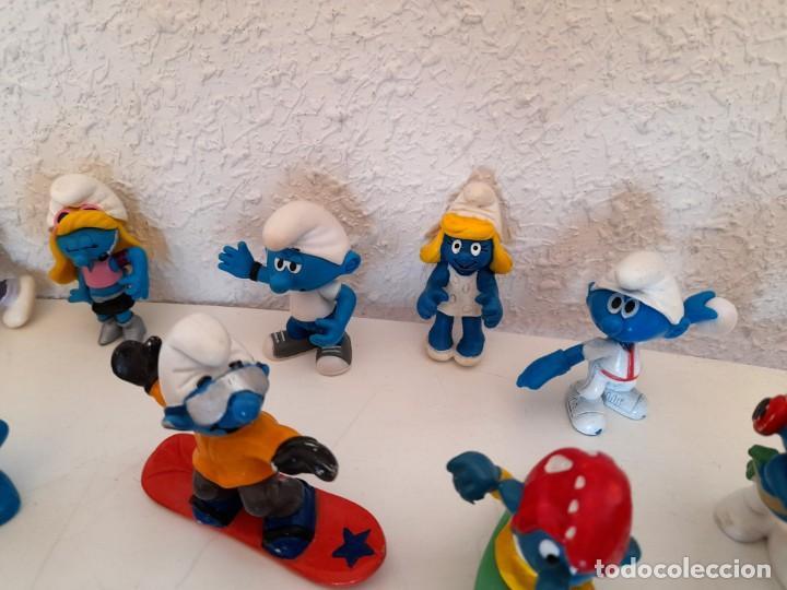 Figuras de Goma y PVC: Lote 18 Pitufos Schleich Peyo Germany alguno 1978 otros sin marca tribu pitufina ver fotos - Foto 7 - 234749720