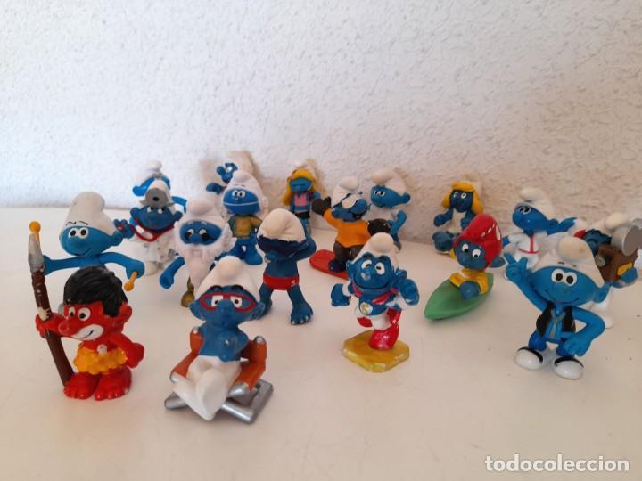 Figuras de Goma y PVC: Lote 18 Pitufos Schleich Peyo Germany alguno 1978 otros sin marca tribu pitufina ver fotos - Foto 9 - 234749720