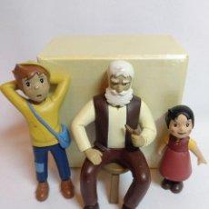 Figuras de Goma y PVC: FIGURAS DE PVC DURO DE HEIDI,PEDRO Y EL ABUELO. Lote 234856010