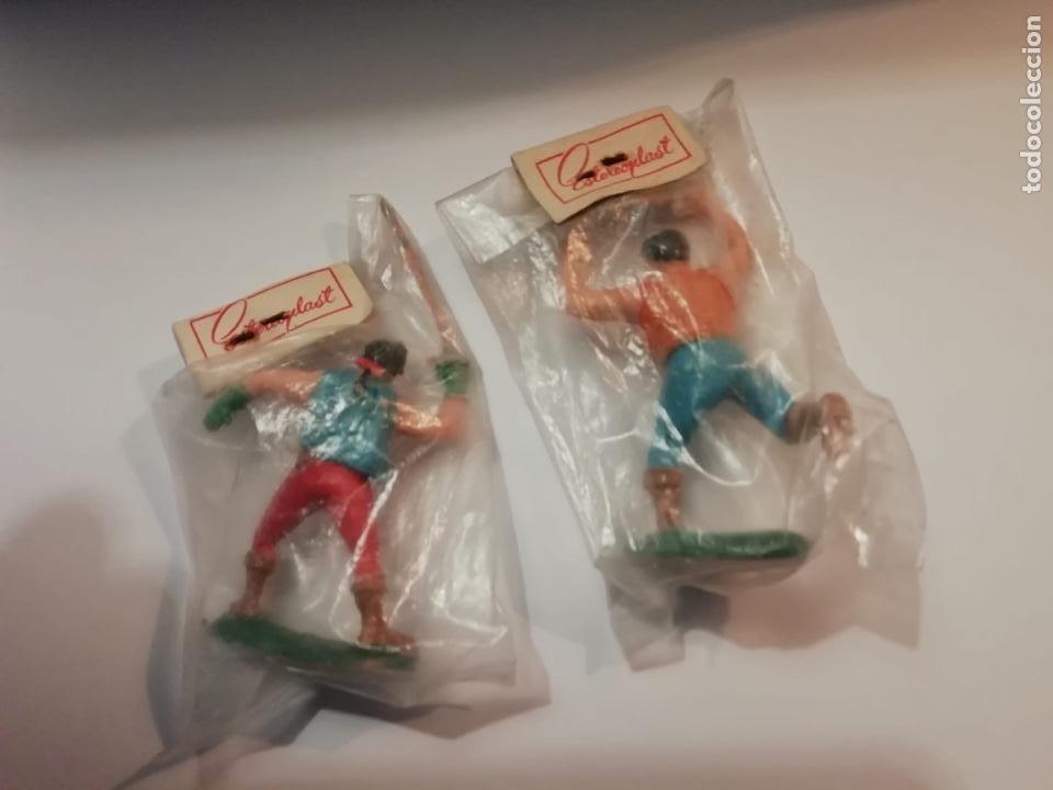 Figuras de Goma y PVC: Estereoplast Magritas y el hijo Capitan Coraje Muy difíciles originales con su bolsa con blister cer - Foto 2 - 234921445