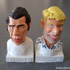 Figuras de Goma y PVC: LOTE JUGADORES REAL MADRID PVC COMIC SPAIN AMANCIO LAUDRUP. Lote 235026715