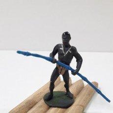 Figuras de Goma y PVC: BALSA CON REMERO . REALIZADO POR GAMA . ORIGINAL AÑOS 50. Lote 235137455