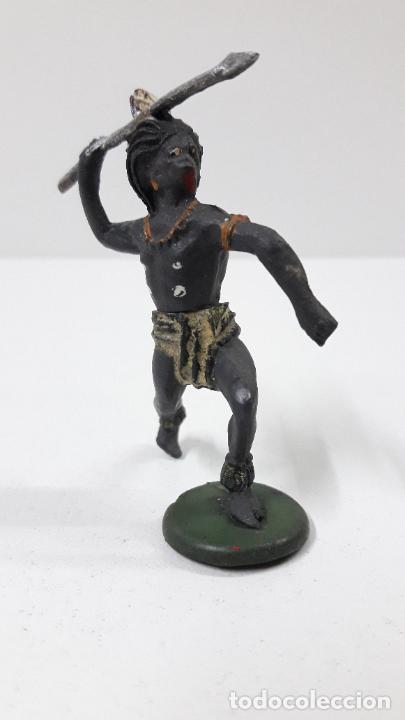 Figuras de Goma y PVC: GUERRERO NEGRO AFICANO . REALIZADO POR GAMA . SERIE GUERREROS AFRICANOS . ORIGINAL AÑOS 50 EN GOMA - Foto 3 - 235152145