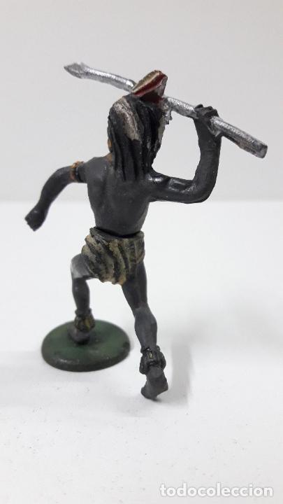 Figuras de Goma y PVC: GUERRERO NEGRO AFICANO . REALIZADO POR GAMA . SERIE GUERREROS AFRICANOS . ORIGINAL AÑOS 50 EN GOMA - Foto 6 - 235152145