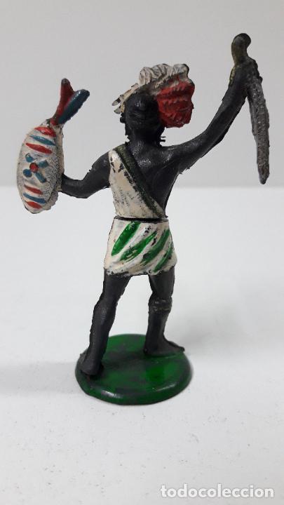 Figuras de Goma y PVC: GUERRERO NEGRO AFICANO . REALIZADO POR GAMA . SERIE GUERREROS AFRICANOS . ORIGINAL AÑOS 50 EN GOMA - Foto 2 - 235152665