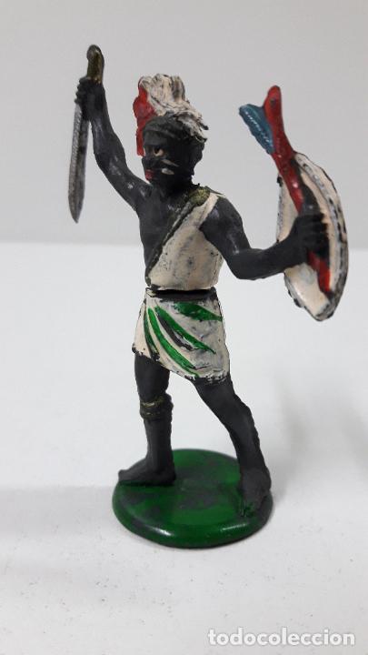Figuras de Goma y PVC: GUERRERO NEGRO AFICANO . REALIZADO POR GAMA . SERIE GUERREROS AFRICANOS . ORIGINAL AÑOS 50 EN GOMA - Foto 3 - 235152665