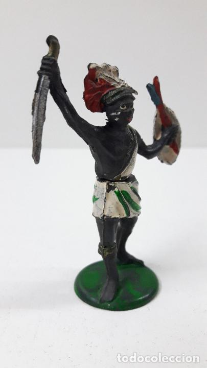 Figuras de Goma y PVC: GUERRERO NEGRO AFICANO . REALIZADO POR GAMA . SERIE GUERREROS AFRICANOS . ORIGINAL AÑOS 50 EN GOMA - Foto 4 - 235152665
