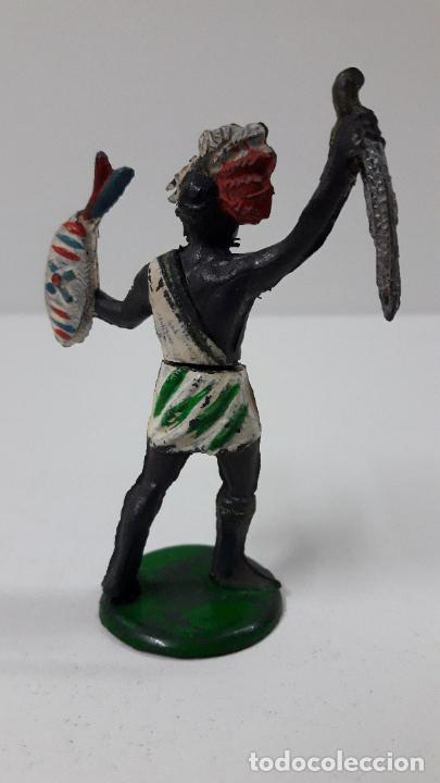 Figuras de Goma y PVC: GUERRERO NEGRO AFICANO . REALIZADO POR GAMA . SERIE GUERREROS AFRICANOS . ORIGINAL AÑOS 50 EN GOMA - Foto 5 - 235152665