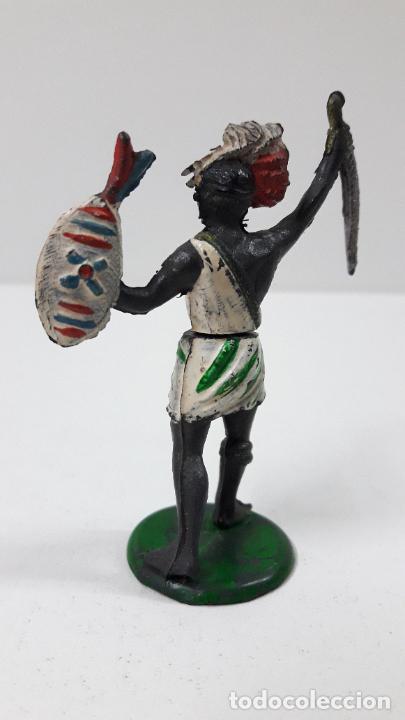 Figuras de Goma y PVC: GUERRERO NEGRO AFICANO . REALIZADO POR GAMA . SERIE GUERREROS AFRICANOS . ORIGINAL AÑOS 50 EN GOMA - Foto 6 - 235152665
