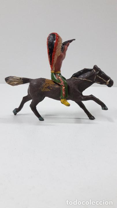 Figuras de Goma y PVC: GUERRERO INDIO A CABALLO . REALIZADO POR ALCA - CAPELL . ORIGINAL AÑOS 50 EN GOMA - Foto 7 - 235262705