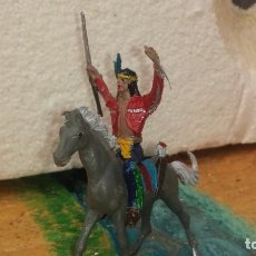 Figuras de Borracha e PVC: INDIO Y CABALLO DE COMANSI. Lote 235282275