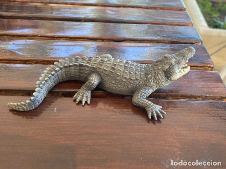 Figuras de Goma y PVC: Schleich cocodrilo lagarto caiman muñeco goma schleich 2007 - Foto 3 - 235287385