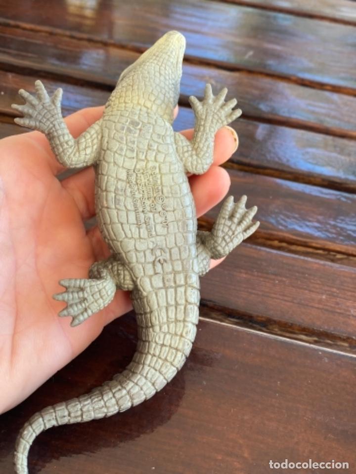 Figuras de Goma y PVC: Schleich cocodrilo lagarto caiman muñeco goma schleich 2007 - Foto 5 - 235287385