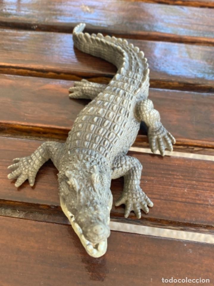 Figuras de Goma y PVC: Schleich cocodrilo lagarto caiman muñeco goma schleich 2007 - Foto 7 - 235287385