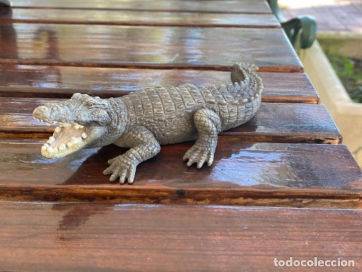 Figuras de Goma y PVC: Schleich cocodrilo lagarto caiman muñeco goma schleich 2007 - Foto 8 - 235287385