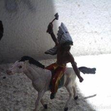 Figuras de Goma y PVC: INDIO Y CABALLO DE COMANSI. Lote 235374445
