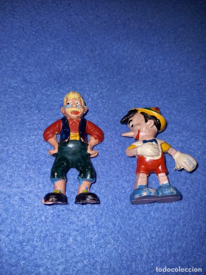 2 FIGURAS CASA PECH AÑOS 60 DISNEY PINOCHO Y GEPETO. (Juguetes - Figuras de Goma y Pvc - Pech)