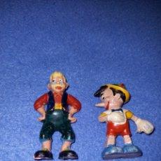 Figuras de Goma y PVC: 2 FIGURAS CASA PECH AÑOS 60 DISNEY PINOCHO Y GEPETO.. Lote 235375430