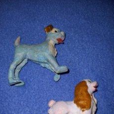 Figuras de Goma y PVC: 2 FIGURAS PECH AÑOS 60 SERIE DISNEY MODELO LA DAMA Y EL VAGABUNDO.. Lote 235377950