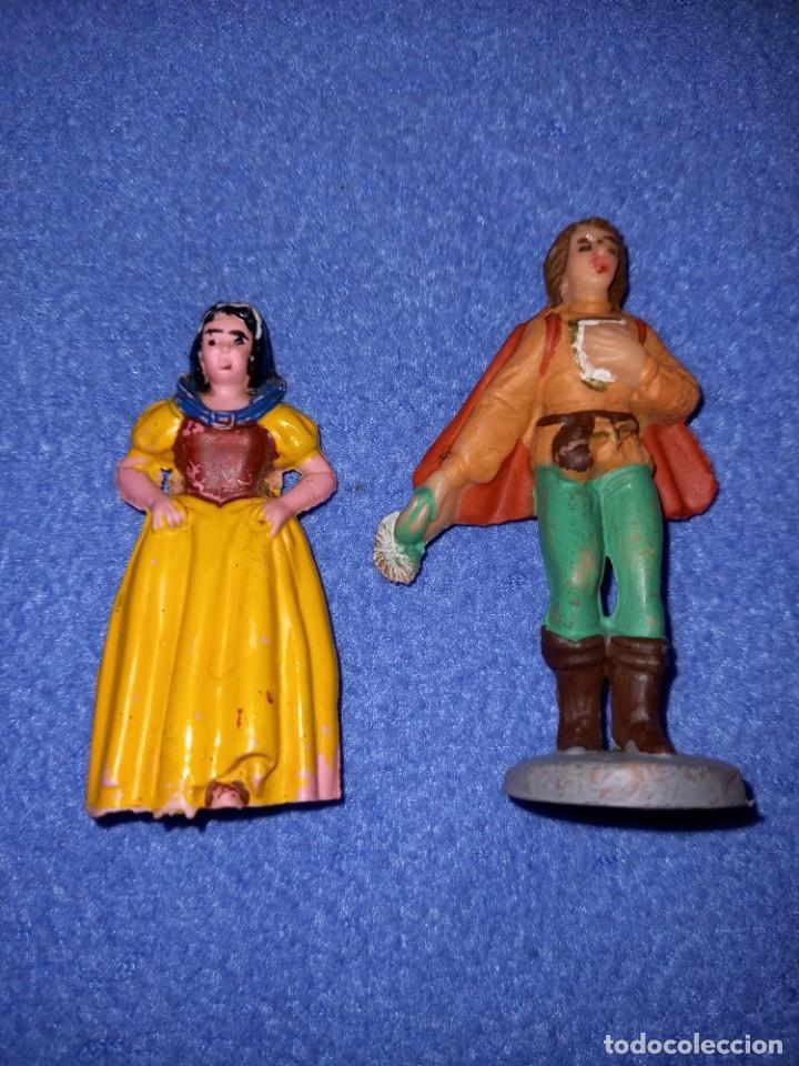 2 FIGURAS CASA PECH AÑOS 60 BLANCA NIEVES Y PRÍNCIPE. (Juguetes - Figuras de Goma y Pvc - Pech)