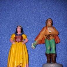 Figuras de Goma y PVC: 2 FIGURAS CASA PECH AÑOS 60 BLANCA NIEVES Y PRÍNCIPE.. Lote 235378825