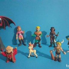 Figuras de Goma y PVC: LOTE DE 8 FIGURAS DE DRAGONES Y MAZMORRAS INCLUYE VENGER. Lote 235381520