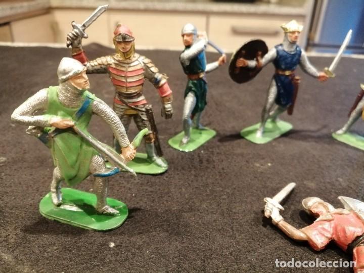 Figuras de Goma y PVC: Lote medieval - Jecsan - Foto 2 - 235409545