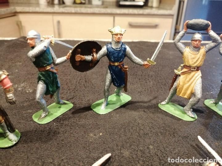 Figuras de Goma y PVC: Lote medieval - Jecsan - Foto 3 - 235409545