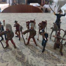 Figuras de Goma y PVC: LOTE 11 FIGURAS COMANSI ACTUAL. VAQUEROS, SOLDADOS, INDIOS Y CABALLOS. Lote 235421575