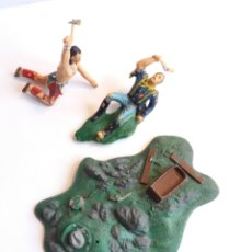 Figurines en Caoutchouc et PVC: BASE DE LA BATALLA DE LITTLE BIG HORN ( AÑOS 60 ). Lote 235514775