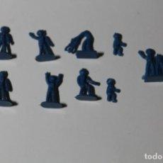 Figuras de Goma y PVC: MONTAPLEX SERJAN. AÑOS 60-70. CONJUNTO DE 9 ASTRONAUTAS. OVNI - MARCIANOS. VER FOTOS. COLOR AZUL.. Lote 235537640