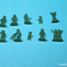 Figuras de Goma y PVC: MONTAPLEX SERJAN. AÑOS 60-70. CONJUNTO DE 10 ASTRONAUTAS. OVNI - MARCIANOS. VER FOTOS. COLOR VERDE.. Lote 235537870