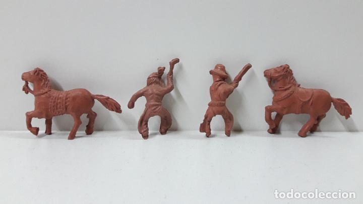 Figuras de Goma y PVC: INDIO Y VAQUERO A CABALLO . REALIZADOS POR LAFREDO . SERIE PEQUEÑA . ORIGINAL AÑOS 50 EN GOMA - Foto 5 - 235538775