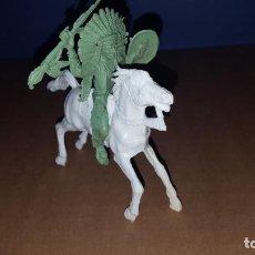 Figuras de Goma y PVC: INDIO A CABALLO EN KIOSCOS. Lote 235715085