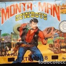 Figuras de Goma y PVC: SOBRE SORPRESA MONTA-PLEX MONTA-MAN, COWBOYS, EXTRA 8, SIN ABRIR. Lote 235807805
