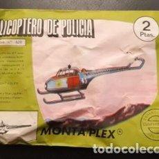 Figuras de Goma y PVC: SOBRE SORPRESA MONTA-PLEX, HELICÓPTERO DE POLICIA, SIN ABRIR. Lote 235808325