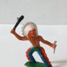 Figuras de Goma y PVC: INDIO SIOUX AÑOS 70 SOTORRES. Lote 235826385