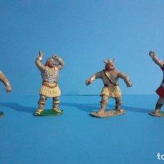 Figuras de Goma y PVC: LOTE DE 4 VIKINGOS JIM. ESTEREOPLAST.. Lote 235832960