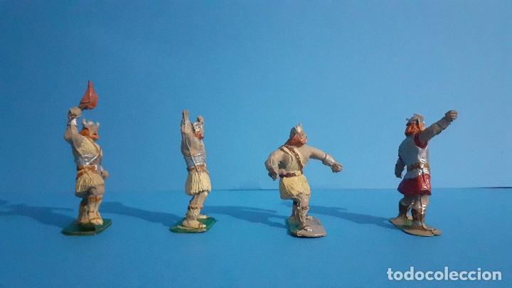 Figuras de Goma y PVC: Lote de 4 vikingos Jim. Estereoplast. - Foto 2 - 235832960